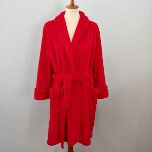 CHARTER CLUB Plush Red Robe XL